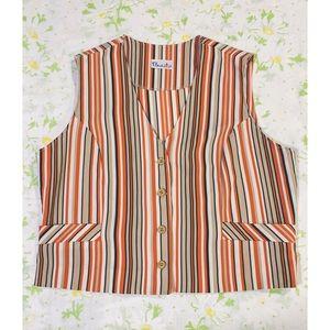NWOT Vtg 70's Bodinit Striped Vest